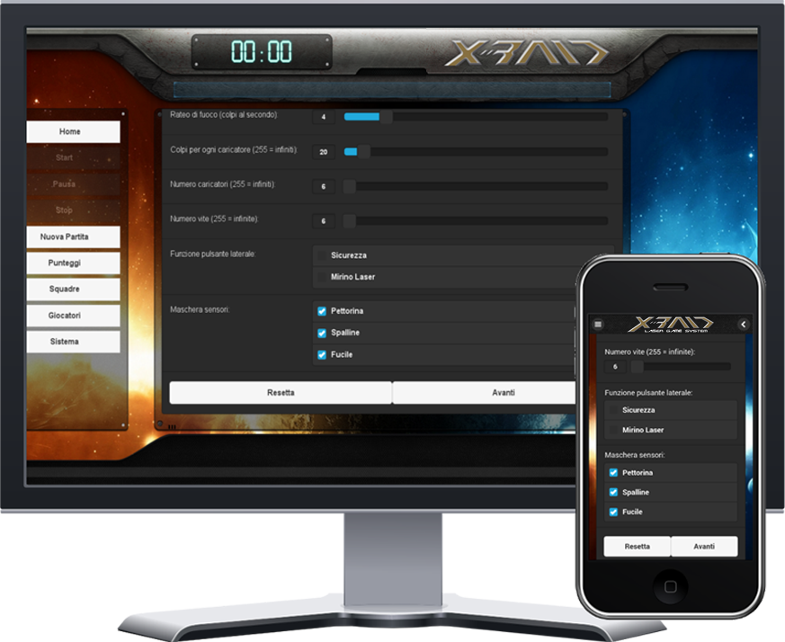 Interfaccia Mobile Xraid